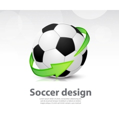 Soccer ball with arrow vector image vector image