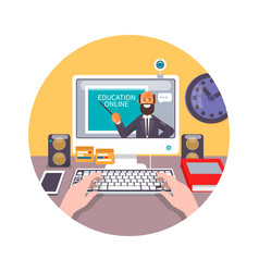 Training education online tutorial e-learning vector