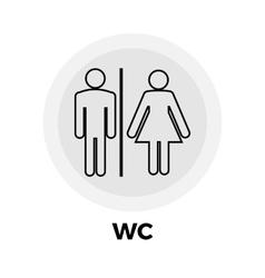 Wc line icon vector
