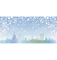 winter cityscape vector image vector image