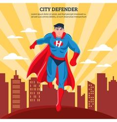 City defender flat vector
