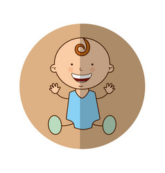 Cute baby boy character vector