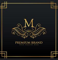 Elegant golden premium brand logo concept made vector