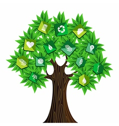 Green resources concept tree vector image