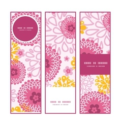 pink field flowers vertical banners set pattern vector image