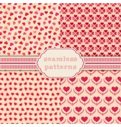 Heart shape seamless patterns cover for vector