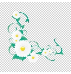Floral vine vignette of flowers and vector