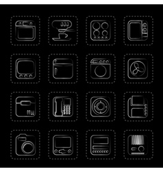 Home and Office Equipment Icons vector image