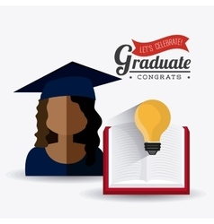Student graduation design vector