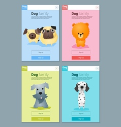 Animal banner with dogs for web design 8 vector