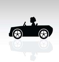 Child drive auto vector