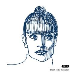 Portrait of beautiful woman vector image