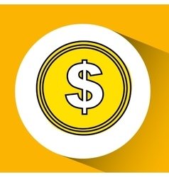 Coin finance money vector