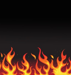 Fiery flames background vector
