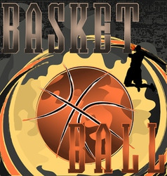 basketball abstract poster vector image vector image