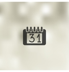 Calendar icon on blurred background vector