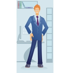 cartoon white-collar vector image vector image