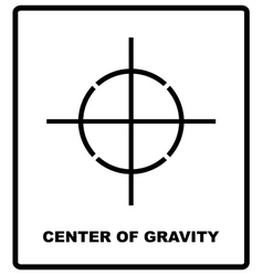 Center of gravity packaging symbol on a corrugated vector