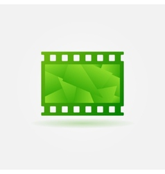Cinema filmstrip logo template vector