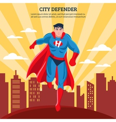 City defender flat vector