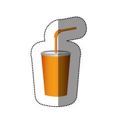 Color delicious beverage soda icon vector