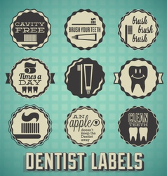 Dentist Labels and Icons vector image vector image