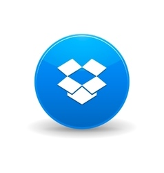 Dropbox cloud storage iconsimple style vector