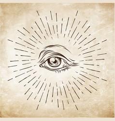 Eye of providence masonic symbol all seeing eye vector