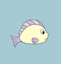 fish cartoon vector image