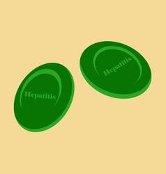 flat icon on theme world hepatitis day hepatitis vector image