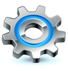 Gear settings icon vector