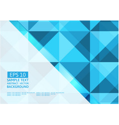 geometric blue triangle abstract background vector image