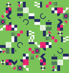 Geometric mosaic seamless pattern vector