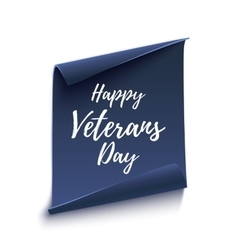 Happy veterans day background on white vector