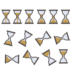 hourglass sprite icon vector image