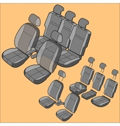 Isolated car seat vector