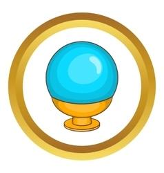 Magic ball icon vector