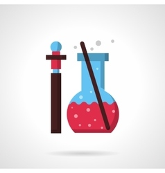 Pharmacy laboratory flat color design icon vector image