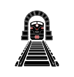 Railway tunnel icon simple style vector