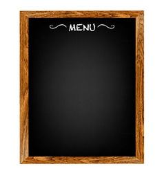 Restaurant Menu Wood Board vector image vector image