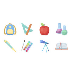 School and education icons in set collection for vector