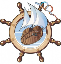 ship amp wheel vector image