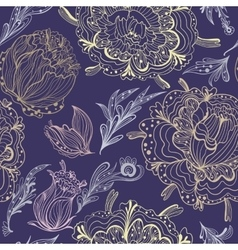 Sketch Ornamental Floral Pattern vector image vector image