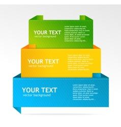speech template vector image vector image
