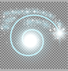 Spiral with particle dust aqua color vector