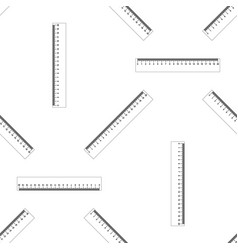 straightedge symbol ruler icon seamless pattern vector image vector image