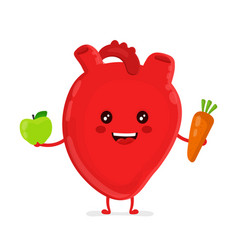 strong funny healthy happy heart vector image