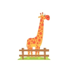 Tall Orange Giraffe With Hexahedron Shaped Spots vector image vector image