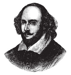 William shakespeare vintage vector