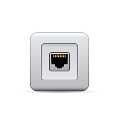 Network socket icon vector image